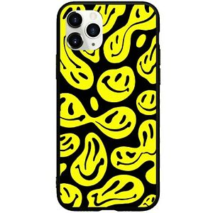 Trippy Melting Smiley Face iphone Case Cover Dripping Smiley Face Phone Case