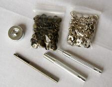 25 un. plata + bronce 10 mm de 25 piezas botón a presión metálicos + conjunto de herramientas