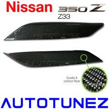 Quality Carbon Fiber Car Eyelid Eyebrow For Nissan 350Z Z33 Fairlady Z TU Black