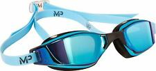 Aqua Sphere MP XCEED Swimming Goggles Titanium Mirror Blue Lens Blue/Black Frame