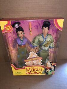Vintage 1997 Mattel Disney's Mulan Shang and Mulan Dolls New In Box