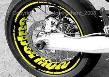 Wheel Rim Sticker Supermoto Suzuki SM RMZ RMX 250 450 DR DRZ 125 650 400 Decal