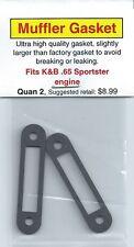 K&B Sportster .65 Muffler/Exhaust Gasket 2 Pack NIP