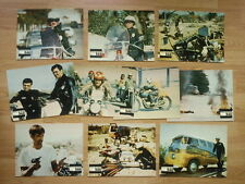 BIKER: ELECTRA GLIDE IN BLUE 10 rare lobby cards - Harley Davidson 344 Cult 1973