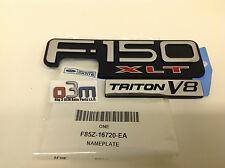 1998-2003 Ford F150 Black & Chrome XLT TRITON V8 Fender Emblem OEM
