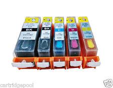 5 Refillable ink cartridges for Canon PGI-220 CLI-221 Pixma MP990 MX860 MX870