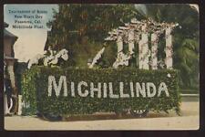 Postcard Pasadena,California/CA Rose Parade Michillinda Float view 1909?
