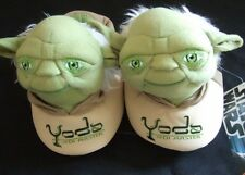 Star Wars The Force Awakens Jedi Master Yoda Plush Sock Top Slippers 9-10 Disney