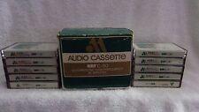 10 QUADRASONIC BLANK AUDIO CASSETTE TAPES / AUDIO MAGNETICS QHFC-90