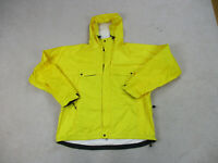 Ralph Lauren Jacket Adult Extra Large Yellow RLX Rain Coat Hoodie Mens 90s A15*