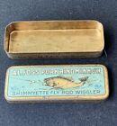 Vintage AL FOSS  Shimmyette Fly Rod Wiggler #7 Tin Pork Rind Minnow