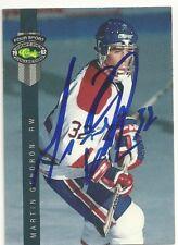 Martin Gendron Washington Capitals Personally Autographed Hockey Card