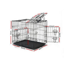 """24""""~ 48"""" Pet Cage Dog Cat Cage Crate Kennel Collapsible Metal Cage Playpen Cover"""