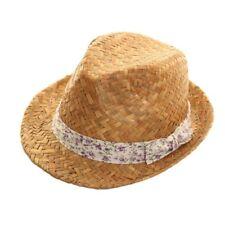 Banda Floral Púrpura Sombrero de Paja Fieltro M 57cm Festival Fiesta  Mujeres para la playa e4be4a73b8e