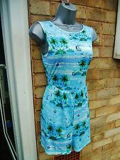 VERO MODA ladies womens green blue jumpsuit playsuit summer size 10 beach casual