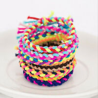 Colorful Elastic Braided Ruber Hair Ties Hair Rope Bands Ponytail Holder Accesso