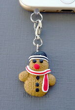 Christmas Snowman cell phone Charm Anti Dust proof Plug headphone jack s29