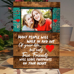 Personalised True Friends Best Friend Gift Friendship Standing, Plaque Sign