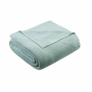 Luxury Aqua Blue Classic Knitted Year Round Blanket - ALL SIZES
