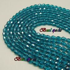 32 pcs 7×5 mm Small Peacock Blue Faceted Teardrop Glass Crystal Beads CS221