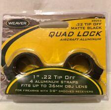 "Weaver Quad Lock Scope Rings 1"" .22 Tip Off - Matte Black"