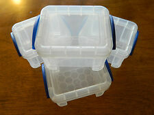 Really Useful Box 0.14 Litre, Clear (SET OF 4)