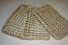 PARROT Toy PARTS,  3 pack Natural Seagrass Mat Small 12