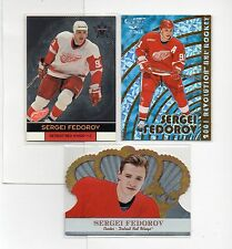 3-sergei fedorov detroit red wings lot 2000/01 vanguard 37 crown royale 38 plus