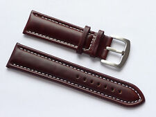 Quality Lug 24mm Brown Genuine Calf Leather Strap Fits Most Men's Watch
