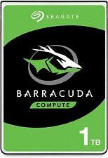 Seagate BarraCuda, Disco duro interno 1TB , HDD, 2,5 in, SATA 6 Gb/s, 5400 rpm