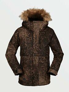 Brand New Girls 2021 Volcom So Minty Insulated Jacket Leopard Medium