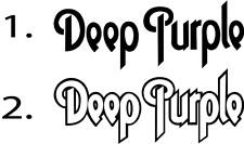 Deep Purple Aufkleber Auto Deko Folie ca.20 x 7 cm viele Farben ANSEHEN 2 Vers.