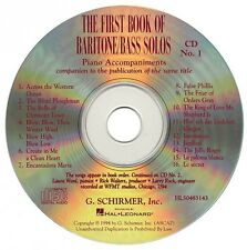 The First Book of Baritone Bass Solos Accompaniment Cds Set of 2 Vocal 050483143
