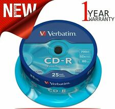 Verbatim 700MB CD-R Blank Discs 52x CD Extra Protection 80 min - 25 Pack Spindle