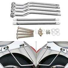 Silver Saddlebag Support Bars Brackets For Harley/Honda/Suzuki/Yamaha/Kawasaki