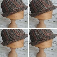 Vintage Mens Multi Coloured Checked, Autumn/Winter Wool Trilby. Size 56.