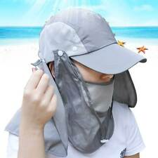 Unisex Fishing Camping Outdoor Sporting SUN UV Protect Baseball Hat w/Face Mask