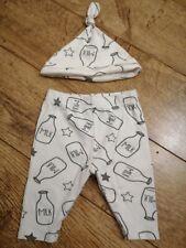 Newborn Unisex Matching Trouser and Hat Set. 0-3m