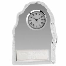 Personalised Engraved Iceberg Glass Desk Clock