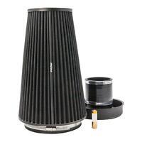 PRORAM XL Universel Admission Cône Air Filtre -trumpet & Silicone Raccord -80mm