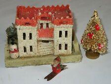 Antique CASTLE Christmas Village Paper Mache Cardboard Japan (T344)