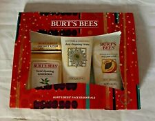 Burt's Bees Face Essentials Gift Set 4 Skin Care Products Cleansing New in Box