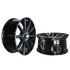 4 GWG WHEELS 22 inch STAGG Black Rims MOD Rims fit FORD MUSTANG ECOBOOST I4 2017