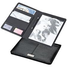 Hochwertige Schreibmappe DIN A4 aus Bonded Leather (Lederfaserstoff)