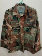 Military All Weather Woodland Coat / Jacket USAF Medium / Regular with Patches