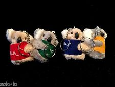 36 Australian Souvenir Koala With Vest & Keyring Koalas Clip On 5cm bulk