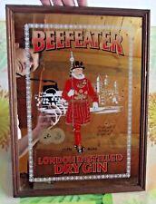 Ancien Miroir avec Sérigraphie Beefeater London Distilled Dry Gin 1873 de 1970