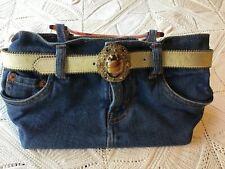 Vintage Levi Strauss & Co. Denim Purse with Amber Color Handles & Belt