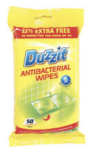 2 X 50 Jumbo Duzzit Antibacterial Wipes &