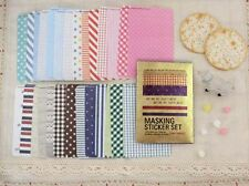 27 sheets Fabric style masking label sticker ST042
